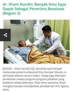 Kebaikan berbagi kesempatan kuliah kedokteran oleh Dompet Dhuafa